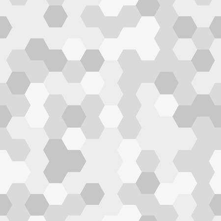 Seamless texture gray hex grid, geometric pattern. Vector Illustration.
