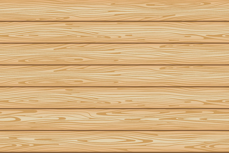Seamless wood beige background pattern from boards. Vector illustration.