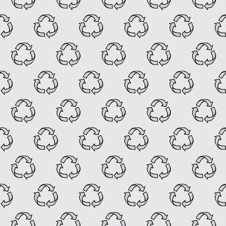Recycle hand draw seamless pattern for your packaging