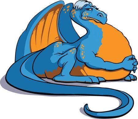 A big bloated blue dragon.