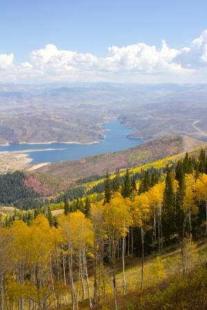 View overlooking a reservoir near Park City, Utah Reklamní fotografie