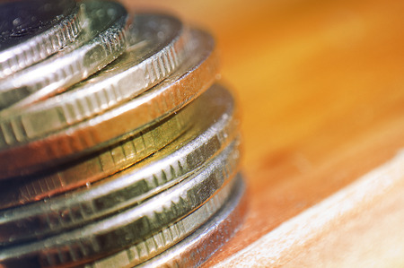 uk money: coins background