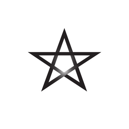 Pentagram vector icon isolated on white background, satanic sign