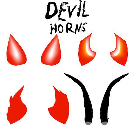 Devil Horns Vector Isolated Satan Horns Symbol Illustration