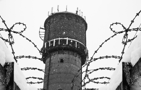 Barbed wire fence, prison, concept of salvation, Refugee, Silent,  lonely,  freedom