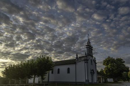 Church of Saavedra 写真素材 - 112551083