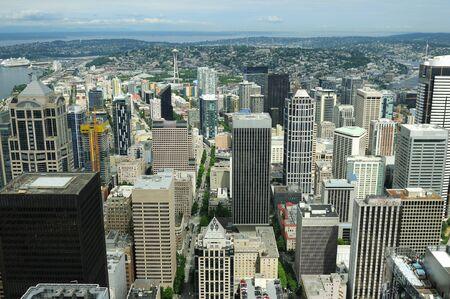 Spectacular View Of Seattle Downtown Foto de archivo - 130753457