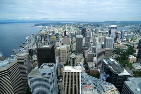 Spectacular View Of Seattle Downtown Foto de archivo - 130753462