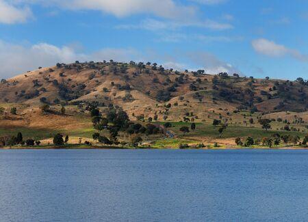 Rolling Hills At Lake Hume NSW Australia 写真素材