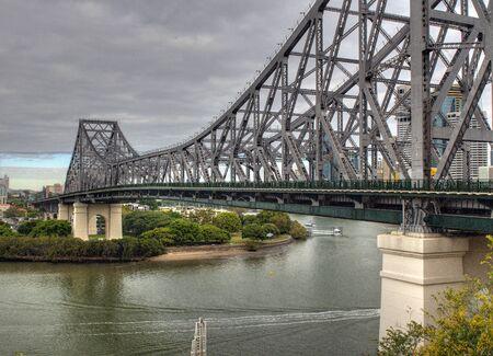 View From Bowen Terrace To Story Bridge In Brisbane Queensland Australia