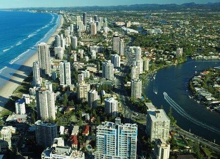 Aerial View Of Surfers Paradise Gold Coast Queensland Australia