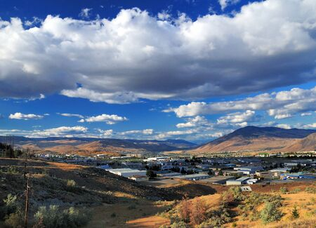 View To The Barren Landscape Of Kamloops At Thompson River