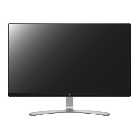 Computer screen isolated on white