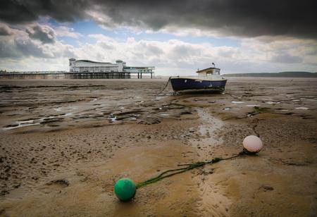 Stranded Boat Stock Photo