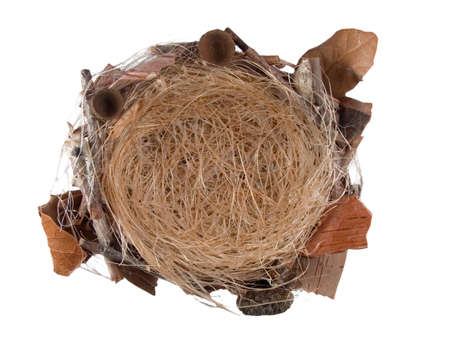 bird's nest isolated on white background Stock Photo