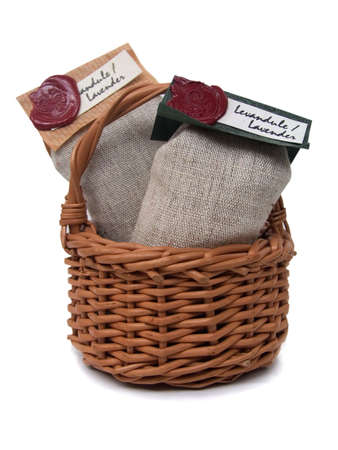 lavender bags in a basket