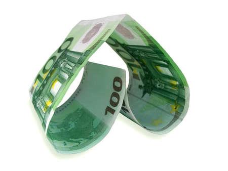 euro heart Stock Photo