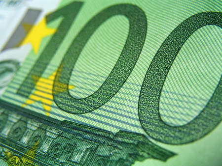 hundred euro detail, macro