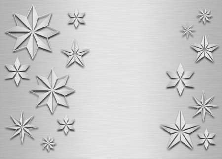 brushed metal snowflakes, Christmas background