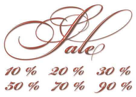 sale with numbers and percent sign