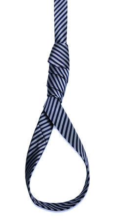 gallows knot made of a business tie Stock Photo