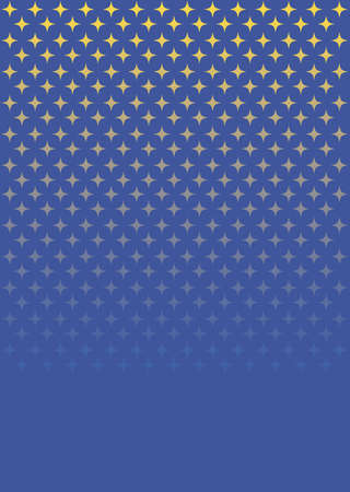 falling stars on blue background Illustration