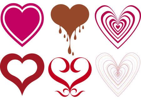 heart designs  Illustration