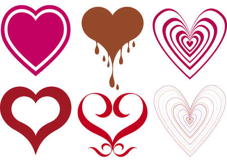 grunge heart: heart designs  Illustration