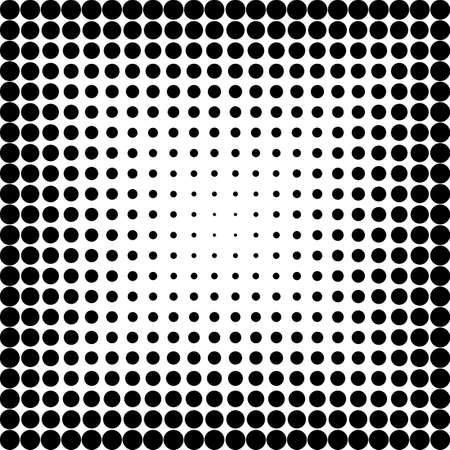 black dots: halftone pattern