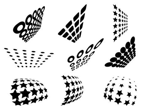collection of grid patterns             Illustration
