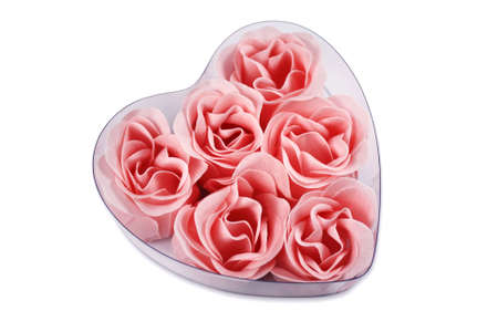 roses in a heart shape