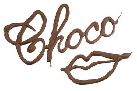 Chocolate kiss Stock Photo