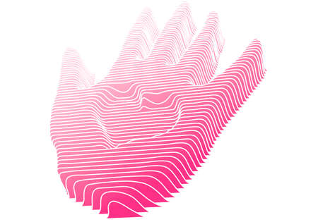 3d hand with heart symbol, vector