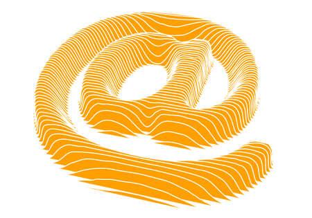 3d mail symbol, vector Illustration