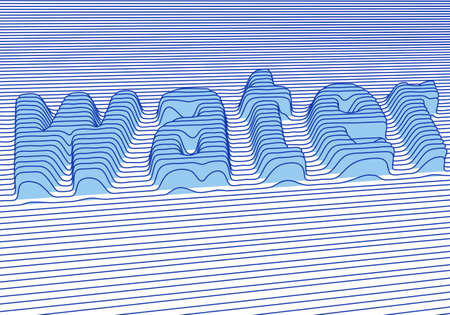 water with 3d letter Imagens - 6447425