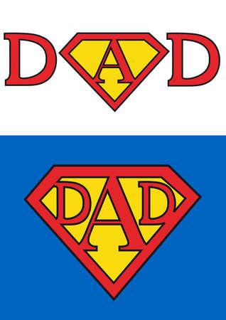day of father: carta di giorno del padre felice per il pap� di superman, sfondo