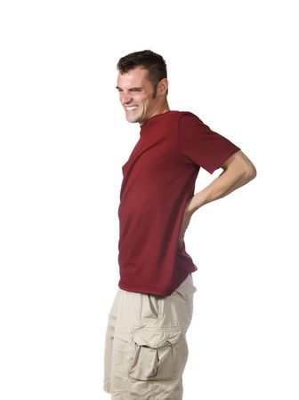 man with backache photo