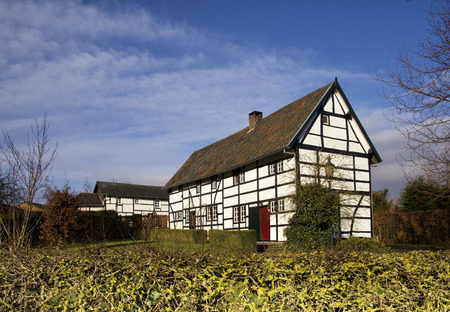 limburg: Typical timber framed house in the small village Terziet in the Dutch province Limburg Stock Photo