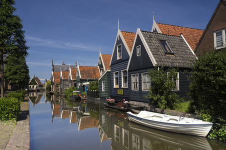 Graft is a Dutch village with typical Zaandam style timbered houses