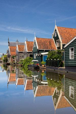 zaandam: Graft is a Dutch village with typical Zaandam style timbered houses