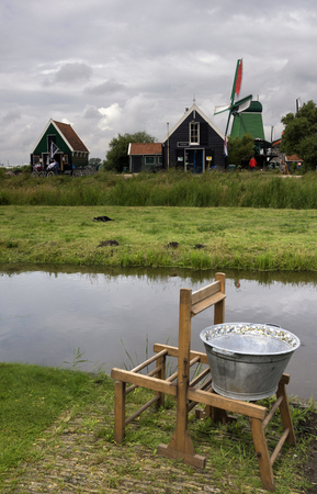 zaandam: Houses in the Zaanse Schans All which is a popular tourist attraction in the Netherlands Editorial