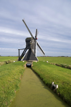 De Klaver or De Greate Klaver is a hollow post mill in Bolsward Stock Photo