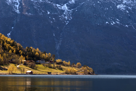 hardanger: The Simadalsfjorden near Eidfjord is the most inland sidearm of the Hardanger Fjord