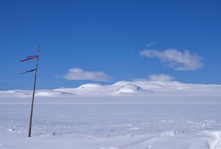 hardanger: The snow covered Norwegian mountain plateau Hardangervidda