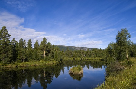 quietness: The Ljusnan river near the Swedish village Ljusnedal
