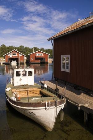 The Swedish fishing village near Hudiksvall Holick on the Baltic sea