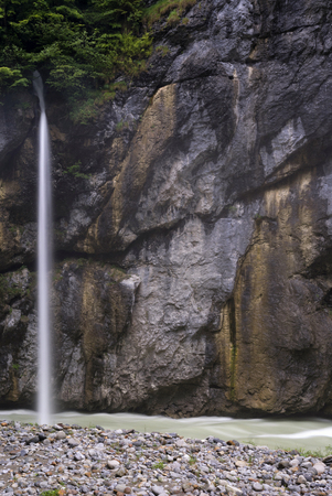 bernese oberland: Waterfall in the Aare Gorge near Meiringen in the Swiss Bernese Oberland Stock Photo