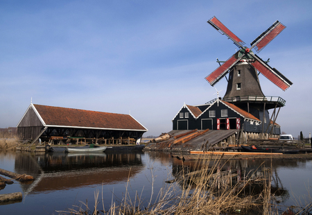 Sawing mill de Rat in IJlst in the Dutch province Friesland Stock Photo - 64093077