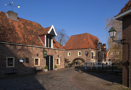 watermills: Watermills the Stone Table and the Olliemolle on the river Berkel in the Dutch town Borculo