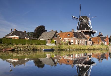 The Hunsingo windmill in Onderdendam Stock fotó